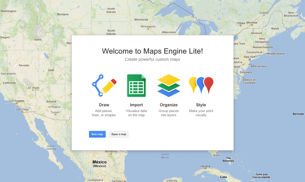 Google Maps Engine Light