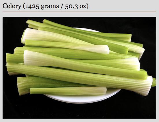 200 Kalorien Sellerie